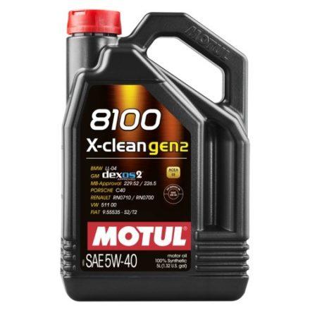 MOTUL 8100 X-clean gen2 5W-40 5l