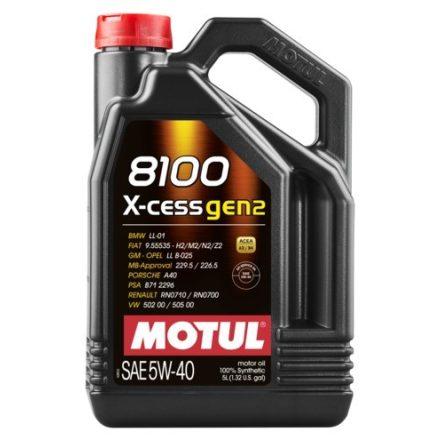 MOTUL 8100 X-cess gen2 5W-40 4l